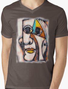 picasso graffiti # 5 Mens V-Neck T-Shirt