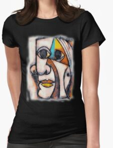 picasso graffiti # 5 Womens Fitted T-Shirt