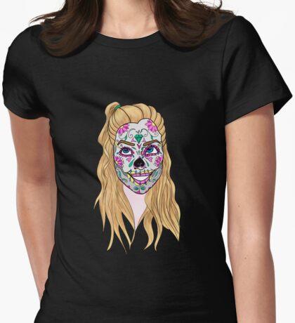 Calaveras: Anne Womens Fitted T-Shirt