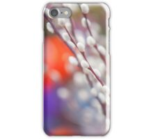 Easter Willow Branch of White Furry Catkins iPhone Case/Skin