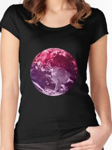 Watercolor Earth Women's Fitted Scoop T-Shirt