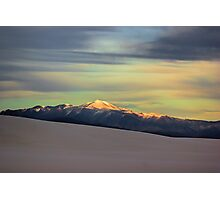 White Sands Sunset Photographic Print