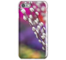 Spring Willow Branch of White Furry Catkins iPhone Case/Skin