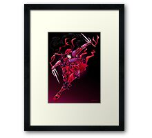 Flash of Red  Framed Print