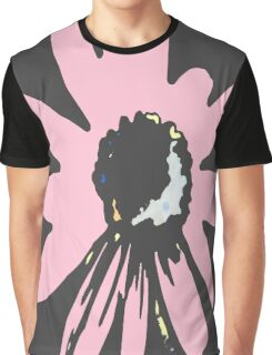 Retro pretty daisy pink black floral pattern Graphic T-Shirt
