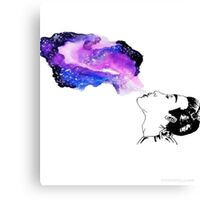 Blowing space  Canvas Print