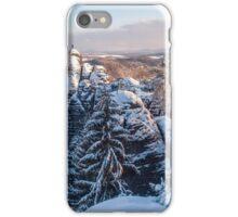 Snowy Rocks of Saxon Switzerland iPhone Case/Skin