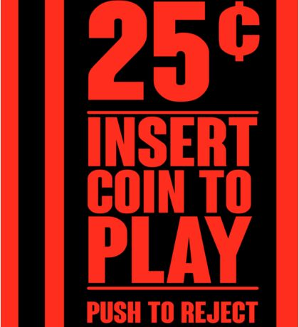 Insert Coin Sticker