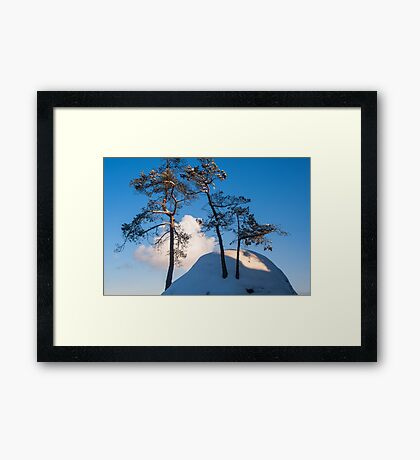 Above the Clouds. Saxon Switzerland Framed Print