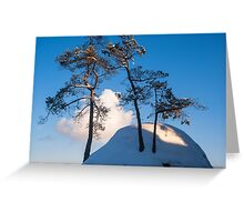 Above the Clouds. Saxon Switzerland Greeting Card