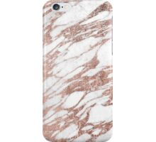 Chic Elegant White and Rose Gold Marble Pattern iPhone Case/Skin