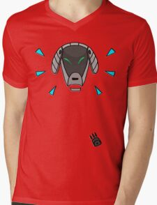 Robot Dog Mens V-Neck T-Shirt