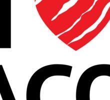 I love heart bacon sticker Sticker