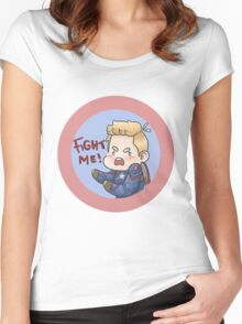 FIGHT ME!! Women's Fitted Scoop T-Shirt