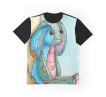 Shabby Blue calico bunny Graphic T-Shirt