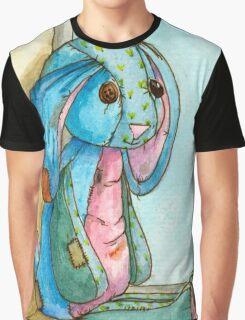 Shabby Blue calico bunny Graphic T-Shirt