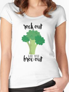 Rock out with your broc out - Broccoli Women's Fitted Scoop T-Shirt