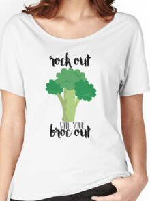 Rock out with your broc out - Broccoli Women's Relaxed Fit T-Shirt