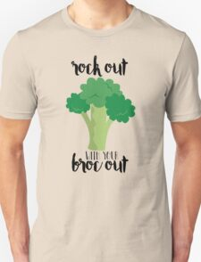 Rock out with your broc out - Broccoli Unisex T-Shirt