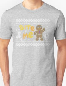 Ugly Christmas Sweater: Bite Me Gingerbread Man  T-Shirt