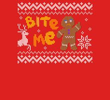 Ugly Christmas Sweater: Bite Me Gingerbread Man  Unisex T-Shirt