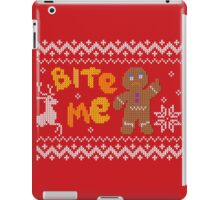 Ugly Christmas Sweater: Bite Me Gingerbread Man  iPad Case/Skin