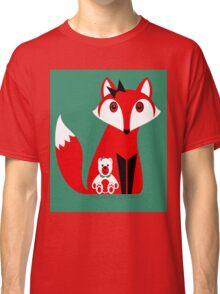 FOX WITH TEDDY BEAR Classic T-Shirt