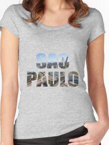 Sao Paulo Women's Fitted Scoop T-Shirt