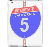 Interstate highway 5 road sign in California iPad Case/Skin
