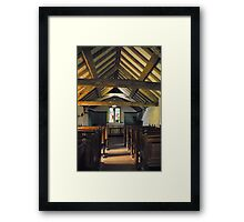 Church of St Olaf, Wasdale head. Interior. Framed Print