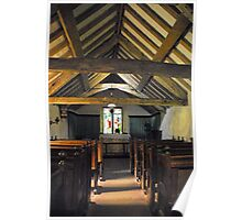 Church of St Olaf, Wasdale head. Interior. Poster