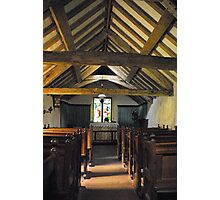 Church of St Olaf, Wasdale head. Interior. Photographic Print