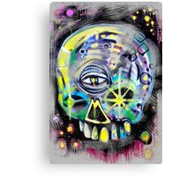 aerosol skull Canvas Print