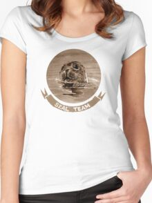 SEAL - sepia Women's Fitted Scoop T-Shirt