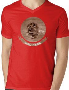 SEAL - sepia Mens V-Neck T-Shirt