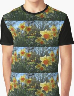 pretty yellow and orange daffodil flowers Graphic T-Shirt
