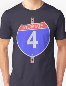 Interstate highway 4 road sign T-Shirt