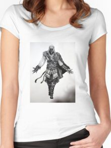 Assassins Creed Ezio Drawing Women's Fitted Scoop T-Shirt