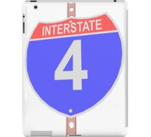 Interstate highway 4 road sign iPad Case/Skin