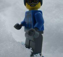 Snowboarding Guy by Shauna  Kosoris