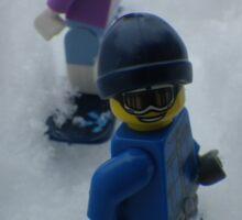 Snowboarding Down the Hill Sticker
