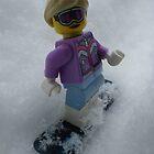 Snowboarding Girl by Shauna  Kosoris
