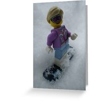 Snowboarding Girl Greeting Card