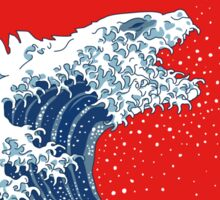 Hokusai Kaiju Sticker