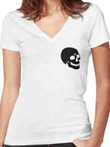 PostMortem - SKULL Women's Fitted V-Neck T-Shirt