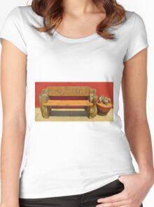 Beautiful Bench Still Life Women's Fitted Scoop T-Shirt