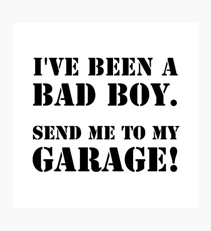 Bad Boy Garage Photographic Print