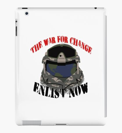 Earth's soldier iPad Case/Skin