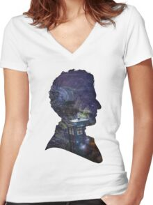 Space & Capaldi Women's Fitted V-Neck T-Shirt