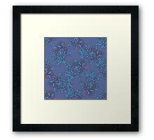 Hand drawn floral seamless pattern. Framed Print